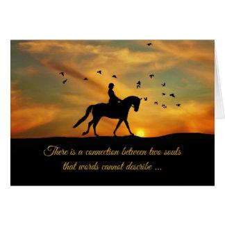 Dressage-Pferde-und Reiter-Beileids-Verlust des Karte