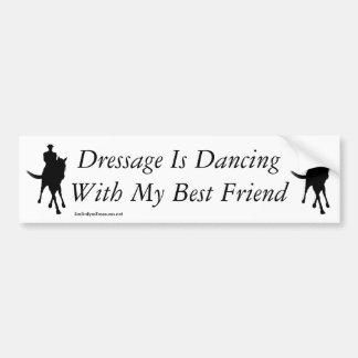 Dressage-Tanzen mit meinem bester Freund-Pferd Autoaufkleber