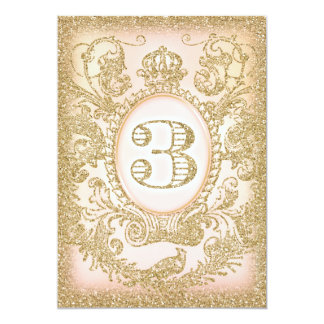 Dritte Geburtstags-einst Prinzessin 12,7 X 17,8 Cm Einladungskarte