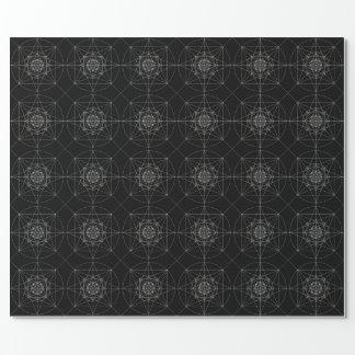 Dritte heilige dimensionalgeometrie geschenkpapier