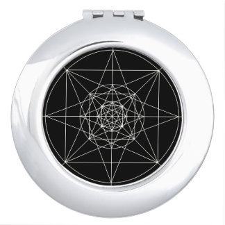 Dritte heilige dimensionalgeometrie taschenspiegel