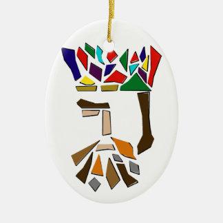 Drittel von drei Königen Ornament, oval Keramik Ornament