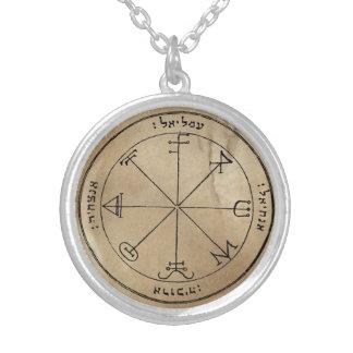 Drittes Pentagramm von Saturn Versilberte Kette