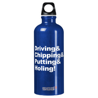 Driving&Chipping&Putting&Holing (weiß) Wasserflasche