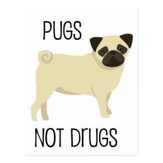 Drogen der Möpse nicht Postkarte