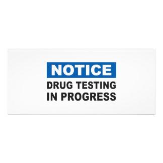Drogen-Prüfung laufend Werbekarte