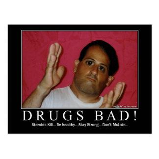 Drogen schlecht! postkarte