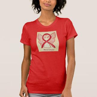 Drogenabhängigkeits-Bewusstseins-rotes T-Shirt