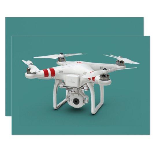 Drohnephantom 12,7 X 17,8 Cm Einladungskarte