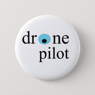Drohnepilot Runder Button 5,1 Cm