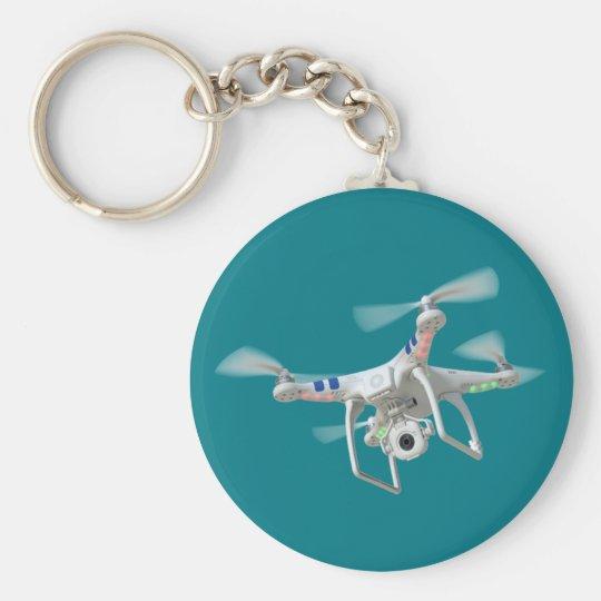 Drohneweiß Standard Runder Schlüsselanhänger