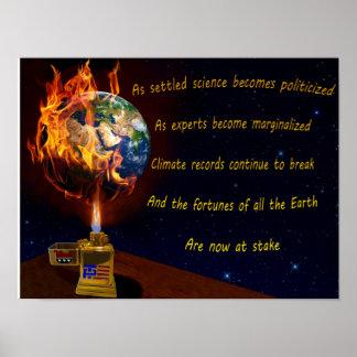 Drohung der globalen Erwärmung Poster