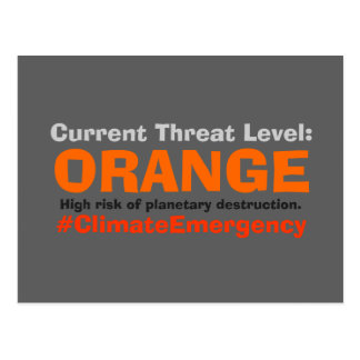 Drohungs-waagerecht ausgerichtete Orange Postkarte