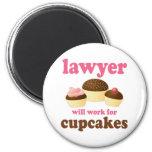 Drôle travaillera pour l'avocat de petits gâteaux aimants pour réfrigérateur