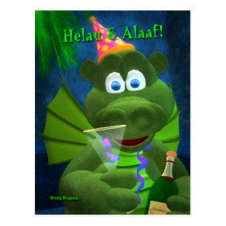 Drolly Dragons: Karneval Postkarte