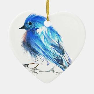 Drossel des Glückes Keramik Ornament