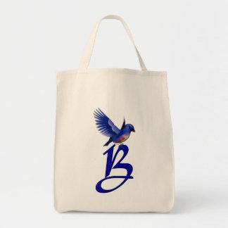 Drossel-Taschen-Tasche des Monogramm-Anfangsb Einkaufstasche