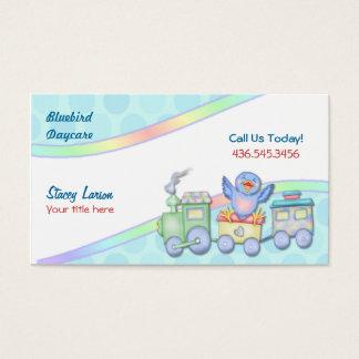 Drossel-Zug für Kindertagesstätte oder Babysitter Visitenkarte