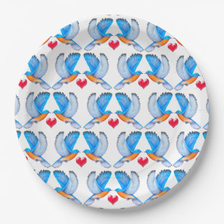 Drosseln des Glück-Papier-Tellers Pappteller