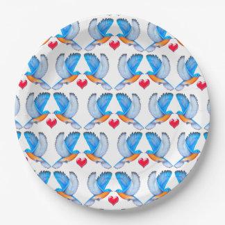 Drosseln des Glück-Papier-Tellers Pappteller 22,9 Cm