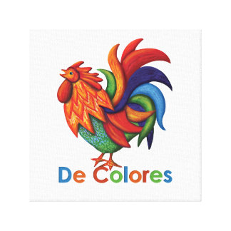 "Druck 12"" De Colores Rooster Gallo X12"", 1,5"" Leinwanddruck"