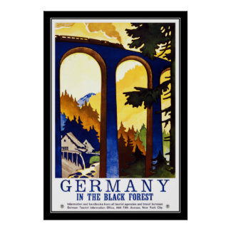 Druck-Retro Vintage Bild-Reise Deutschland Poster