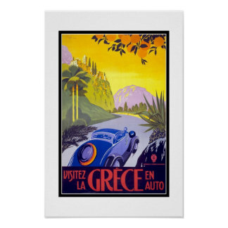 Druck-Retro Vintage Bild-Reise Griechenland Poster