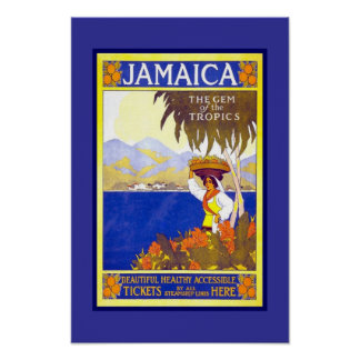 Druck-Retro Vintage Bild-Reise Jamaika Poster