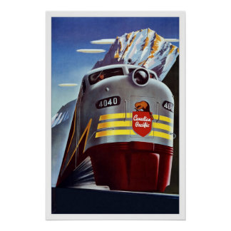 Druck-Retro Vintager Bild-Reise-Zug Kanada Poster