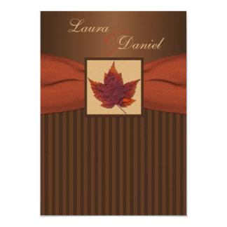 DRUCKband Herbst-Blatt Stripes Hochzeit einladen 12,7 X 17,8 Cm Einladungskarte