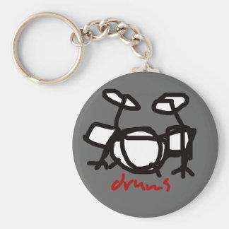 drums standard runder schlüsselanhänger