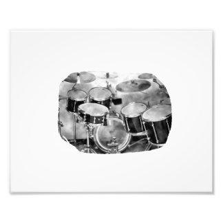 Drumset Schwarzweiss-Fotografie-Entwurf Fotodrucke