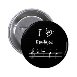dsch, treblebassheart, I, Emo Musik Runder Button 5,7 Cm
