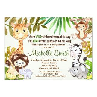Dschungel-Babyparty-Einladung, Safari-Einladung 12,7 X 17,8 Cm Einladungskarte