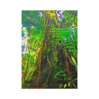 Dschungel-Baum Leinwanddruck