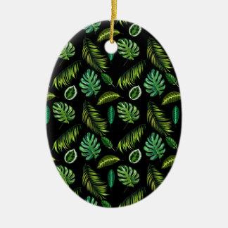 Dschungel-Blatt-Palmen-Waldcooles grünes Keramik Ornament