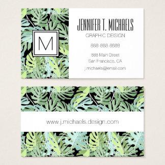 Dschungel-Blumenmuster | addieren Ihren Namen Visitenkarte