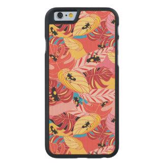 Dschungel-Frösche Carved® iPhone 6 Hülle Ahorn