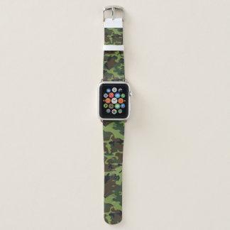 Dschungel-grüne Camouflage Apple Watch Armband