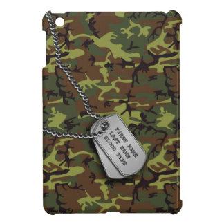 Dschungel-grüne Camouflage mit Hundeplaketten Hüllen Für iPad Mini