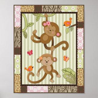 Dschungel Jill Monkeys Poster