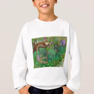 Dschungel-Leopard scherzt Sweatshirt