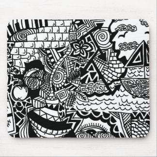 Dschungel-Ozean-Gekritzel Mousepad