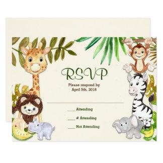 Dschungel-Safari-Zoo UAWG Wartekarte Karte
