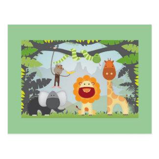 Dschungel-Spaß Postkarte
