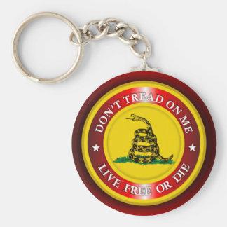 DTOM - Lebhaftfreies oder die 2 (Rot) Standard Runder Schlüsselanhänger