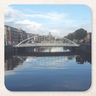 Dublin-Brücken-LandschaftsUntersetzer Rechteckiger Pappuntersetzer