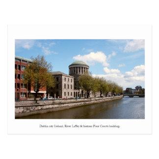 Dublin Irland, Gebäude mit vier Gerichten Postkarte