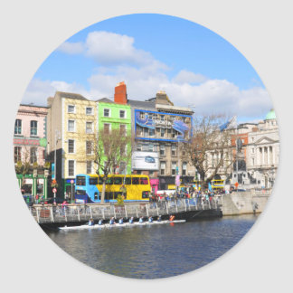 Dublin. Irland Runder Aufkleber