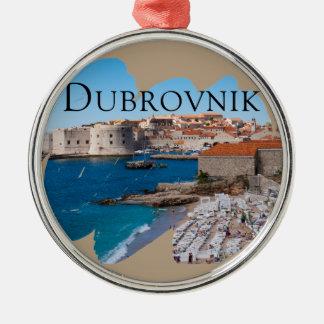 Dubrovnik mit einer Ansicht Silbernes Ornament